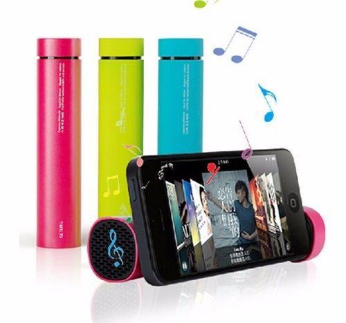New 3 In1 Power Bank Genuine 4000mah/speaker/mobile Stand For Iphones & Android