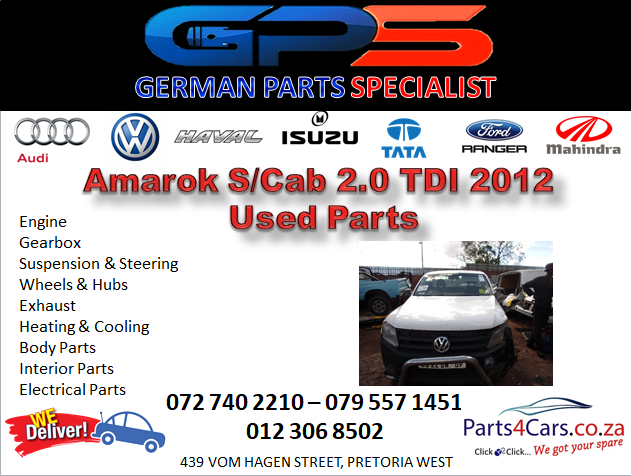 VW Amarok Single Cab 2.0 TDI 2012 Used Parts for Sale