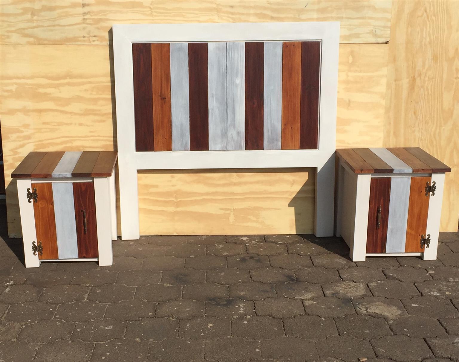 Headboard Chunky Farmhouse series Double bed Combo Multicolour