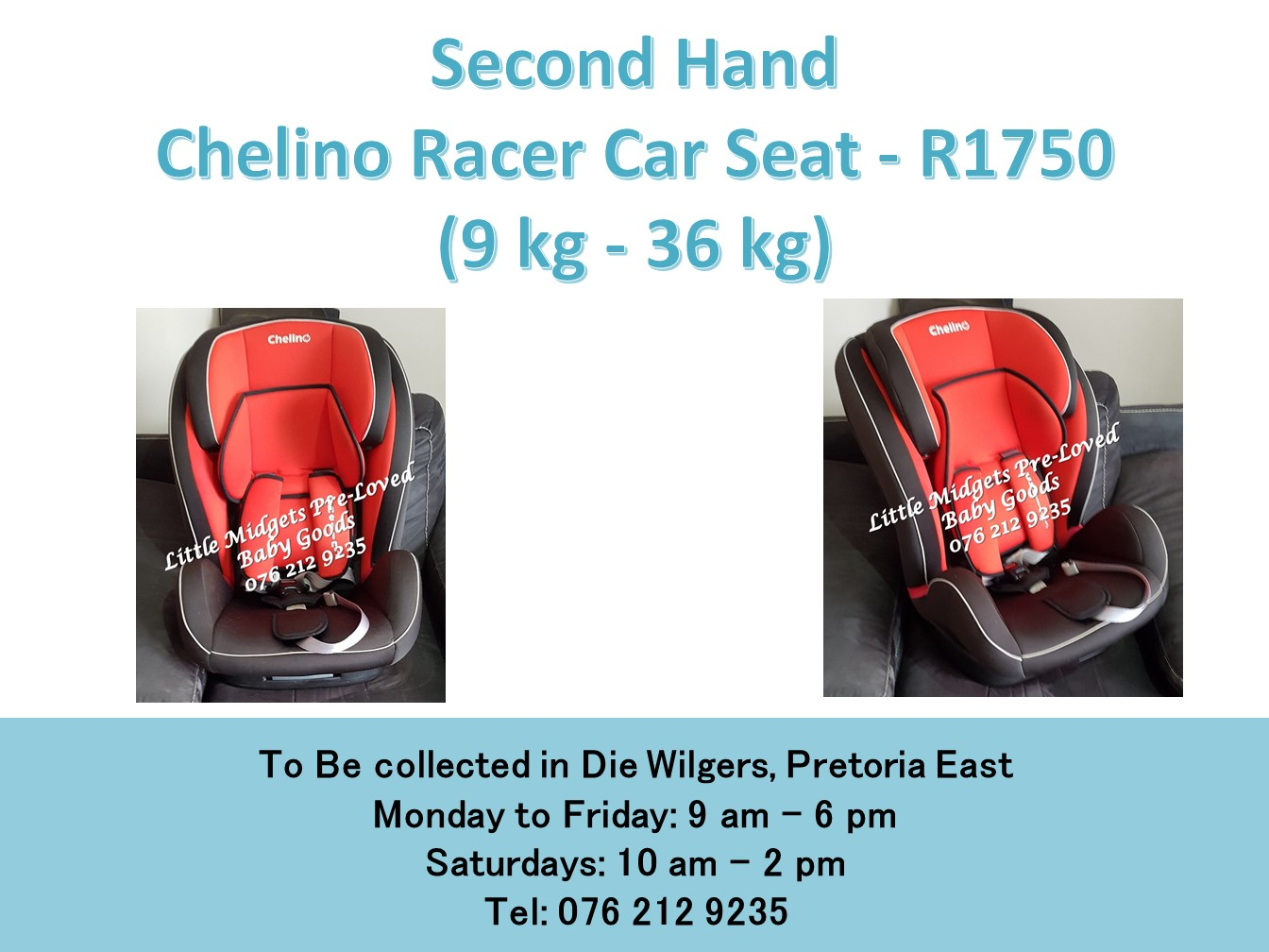 Second Hand Chelino Racer Car Seat 9 Kg 36 Kg Junk Mail