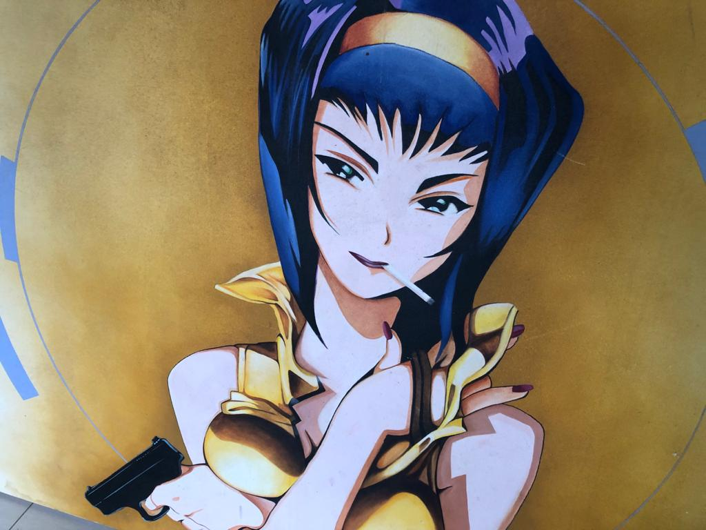 Original Art Large Anime / Manga Inspired Oil on Canvas painting - unsigned