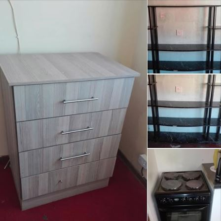 4 plate stove chest of drawer and tv stand