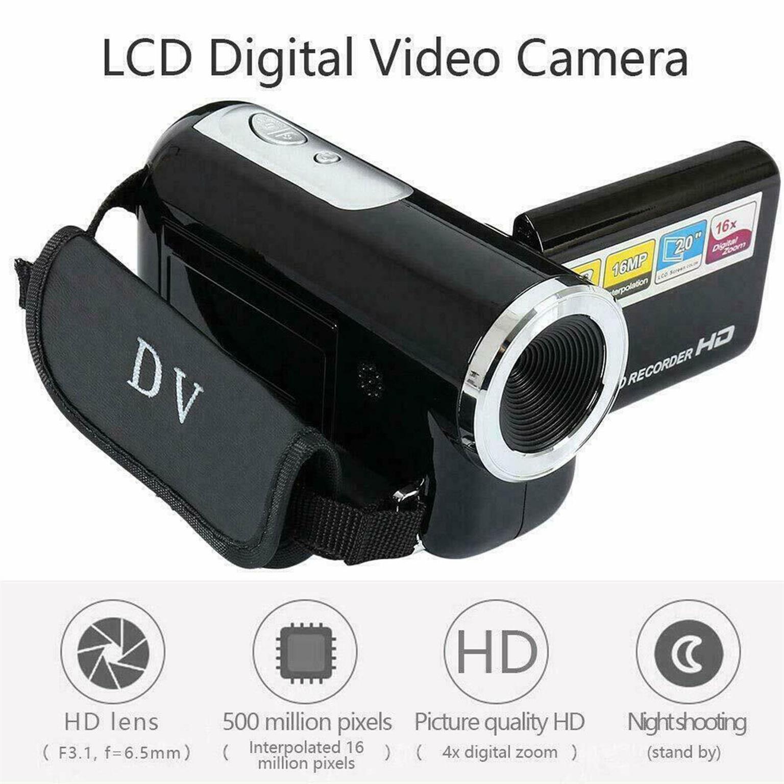 2.7 Inch 1080P HD Camcorder Digital Video Camera TFT LCD 16MP 16x Zoom DV AV
