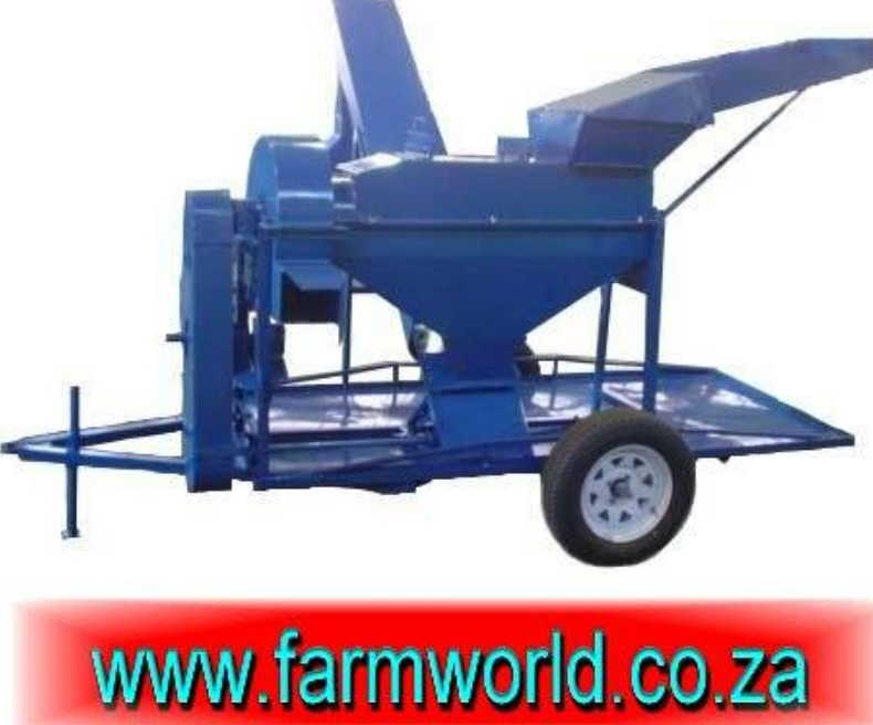 S634 Blue Hippo Maize Thresher 11kW Electric With Trailer / Mielie Dorsmasjien 11kW Elektries Met Sleepwa New Implement