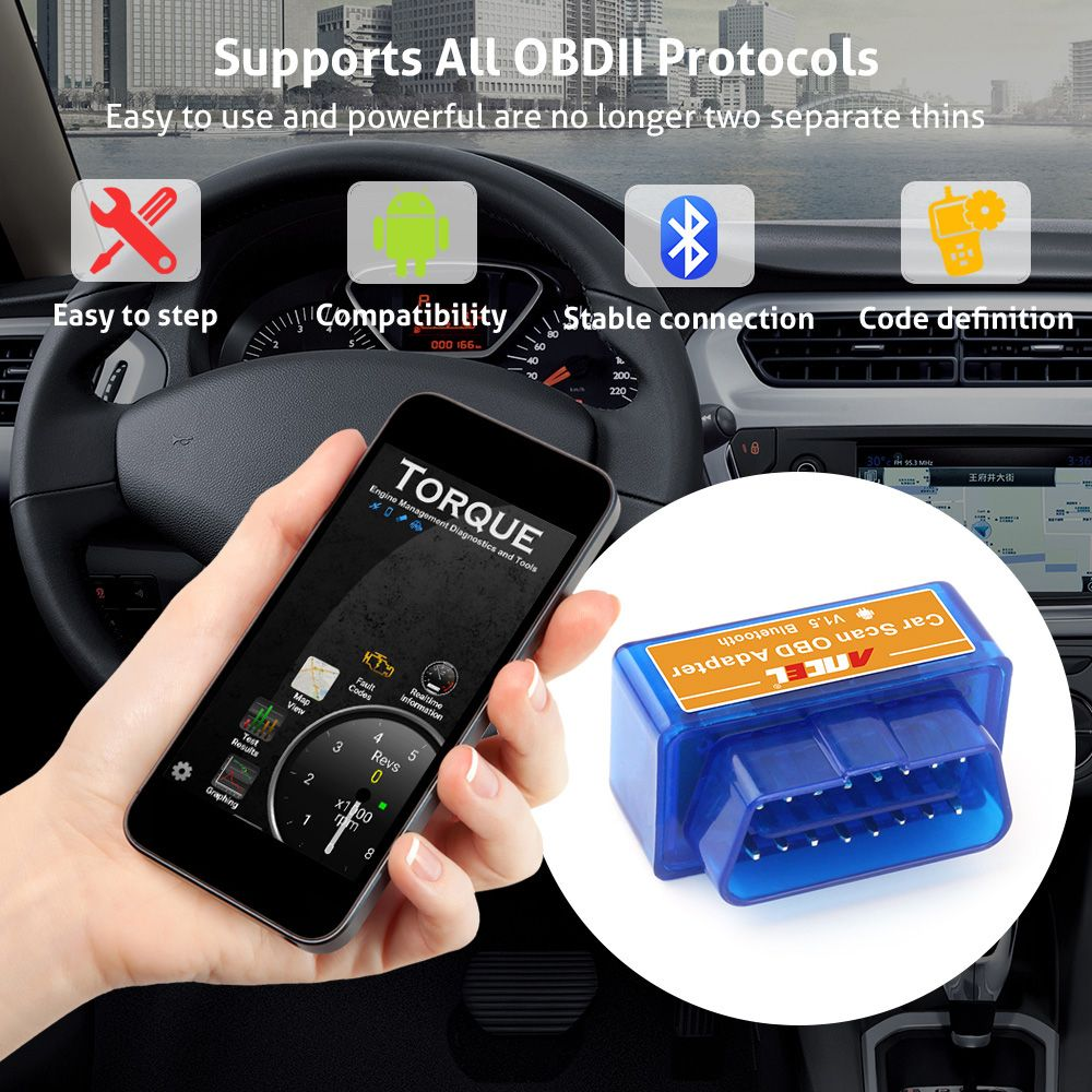 Mini ELM327 OBD2 II Bluetooth Diagnostic Scanner