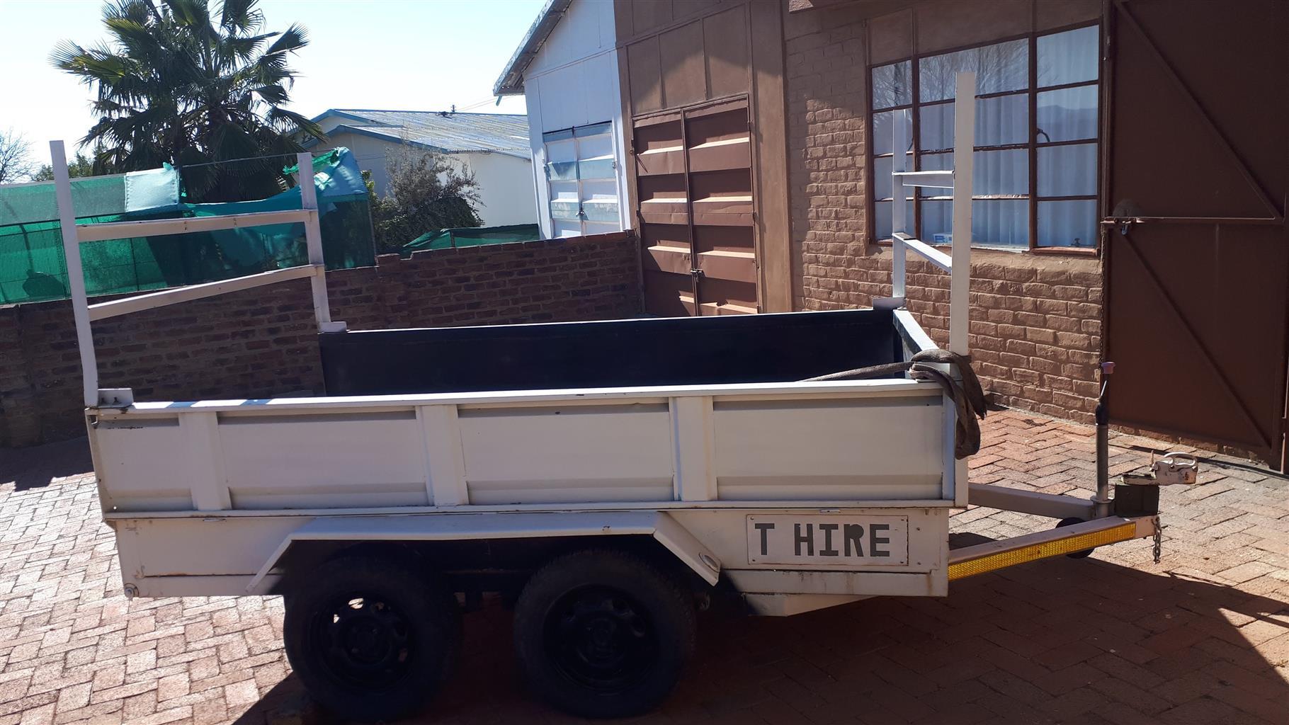 2m x3m doubel axel trailer