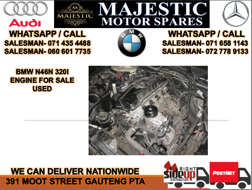 Bmw N46N 320I non face lift engine for sale