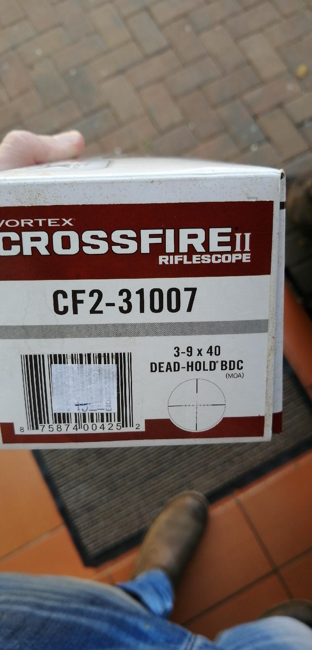 Vortex Crossfire II 3-9x40 Deadhold BDC Brand New