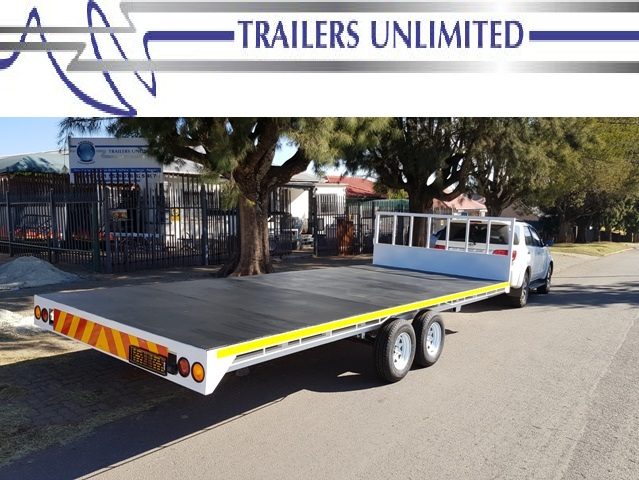 TRAILERS UNLIMITED. 6000 X 2000 FLATBED TRAILERS.