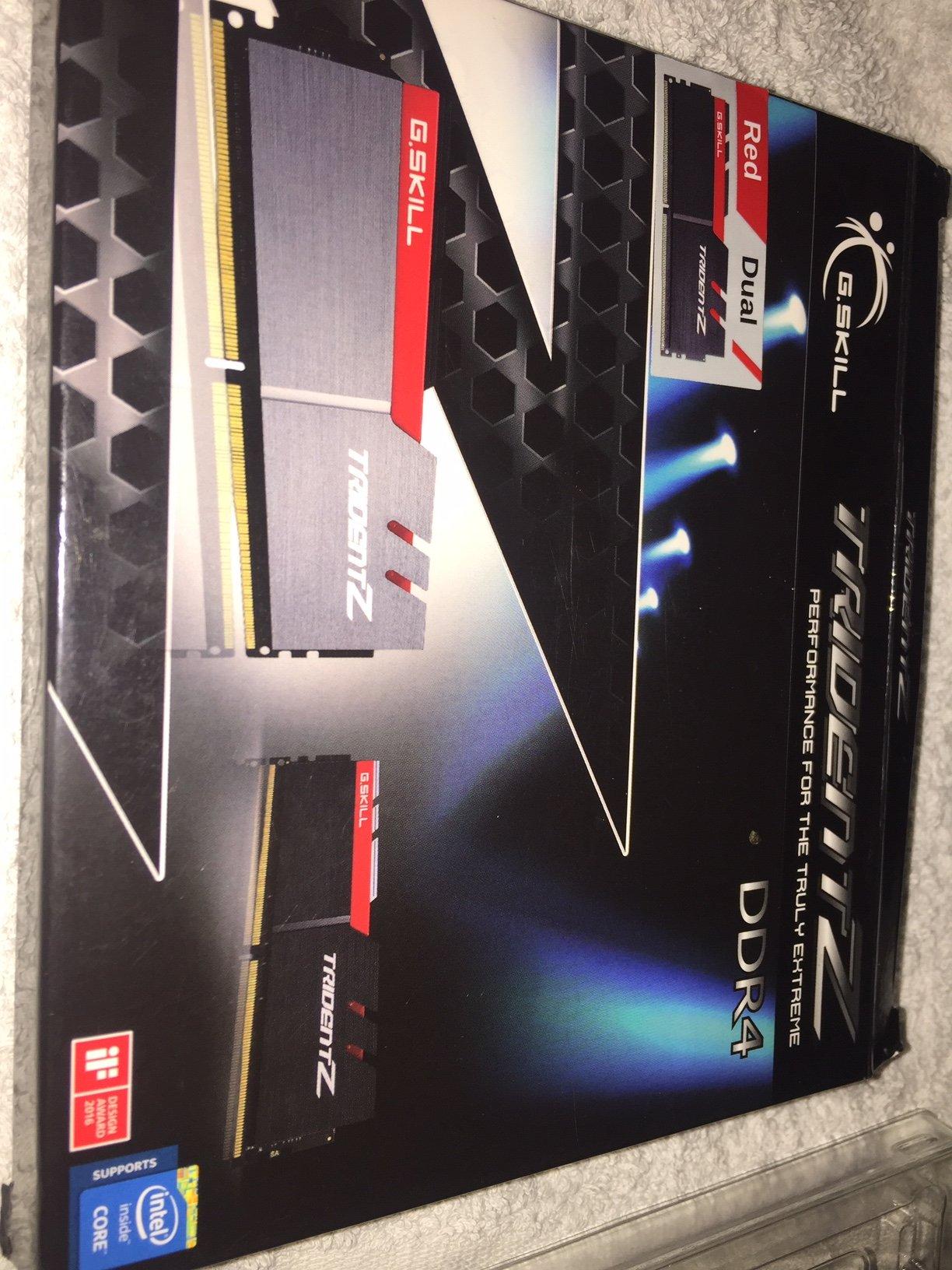 G Skill Trident Z Ram - DDR4 2 x 8 gig (16Gb) 3200 hz CL16 Black grey red