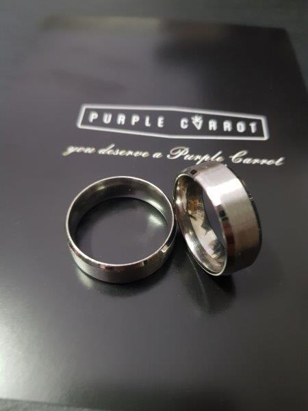 Brushed Ring with Engraving