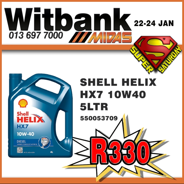 Shell Helix HX7 10W40 5 Liter