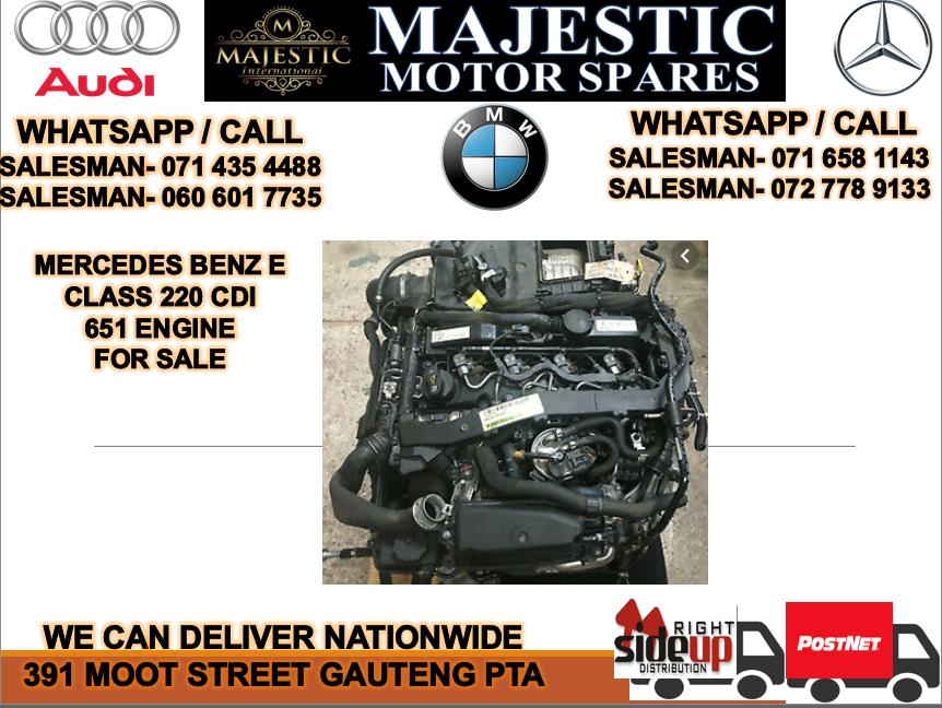 Mercedes benz W210  e class cdi 651 engine for sale