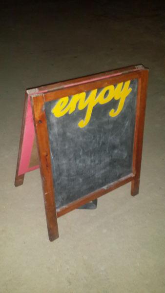 Outdoor blackboard sandwich or menu board
