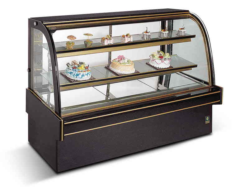 Cake Fridge Curved 1.5m direct from the wholesaler
