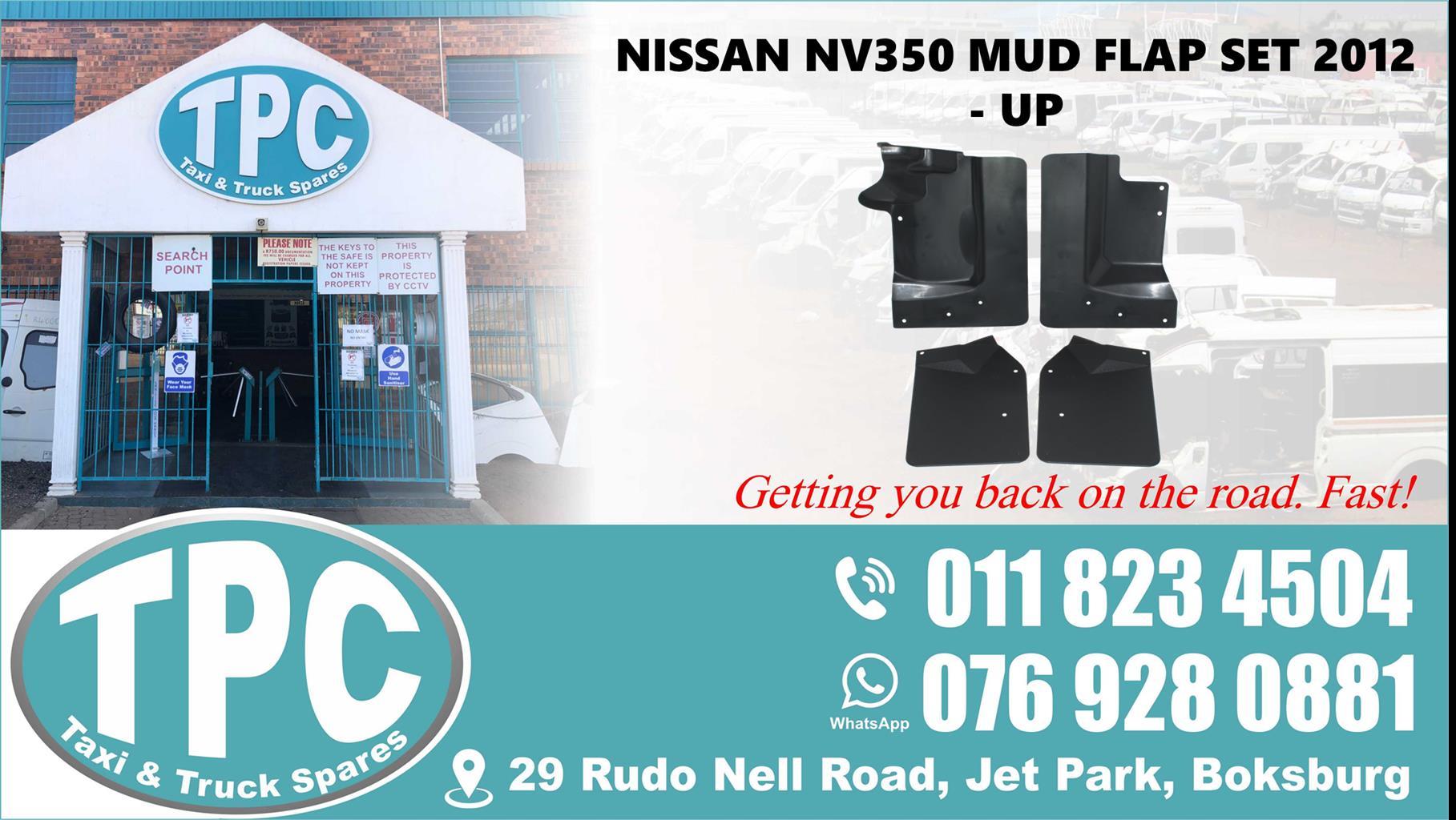 Nissan NV350 Mud Flap Set 2012 - Up - For Sale at TPC