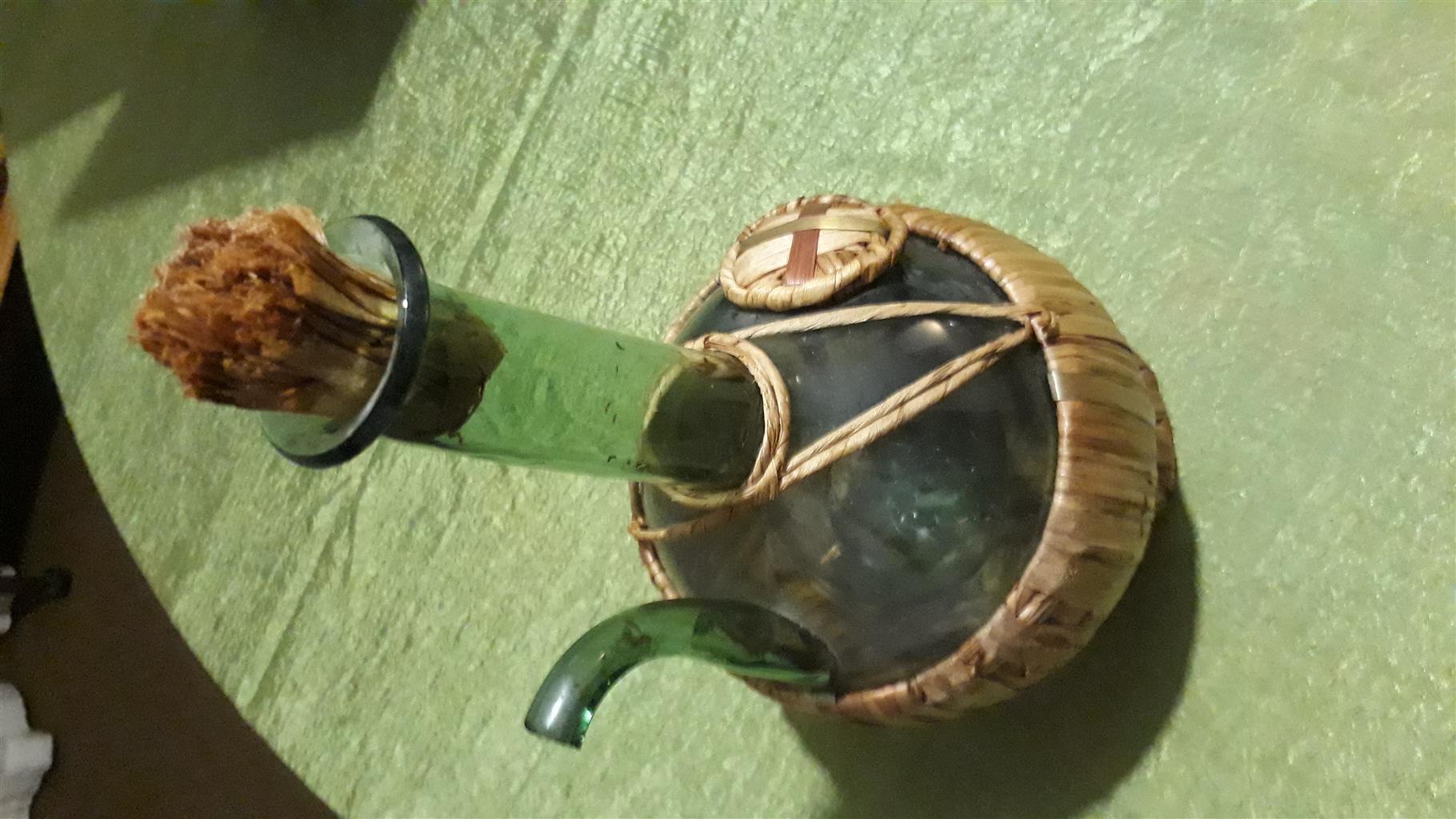 Italian Chianti Straw covered bottle