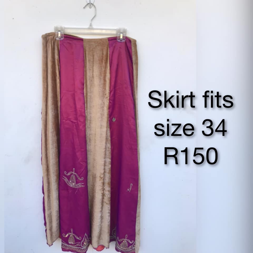 Pink and gold skirt for sale