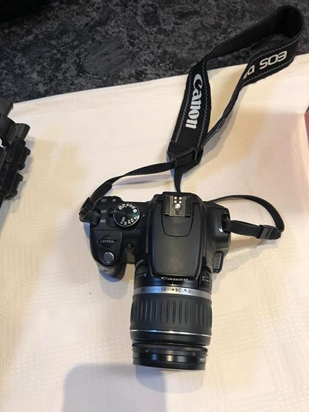 Canon 350D camera with lens and bag