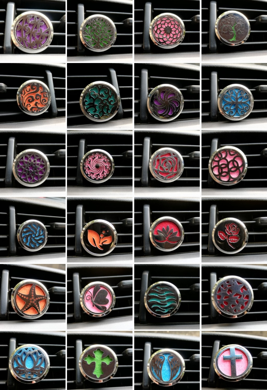 Aromatherapy pendants and car diffusers