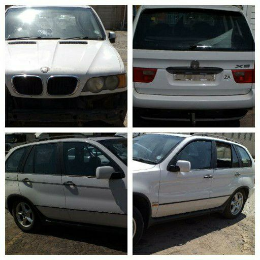 Stripping Bmw X5 3 0d E53 For Spares Parts