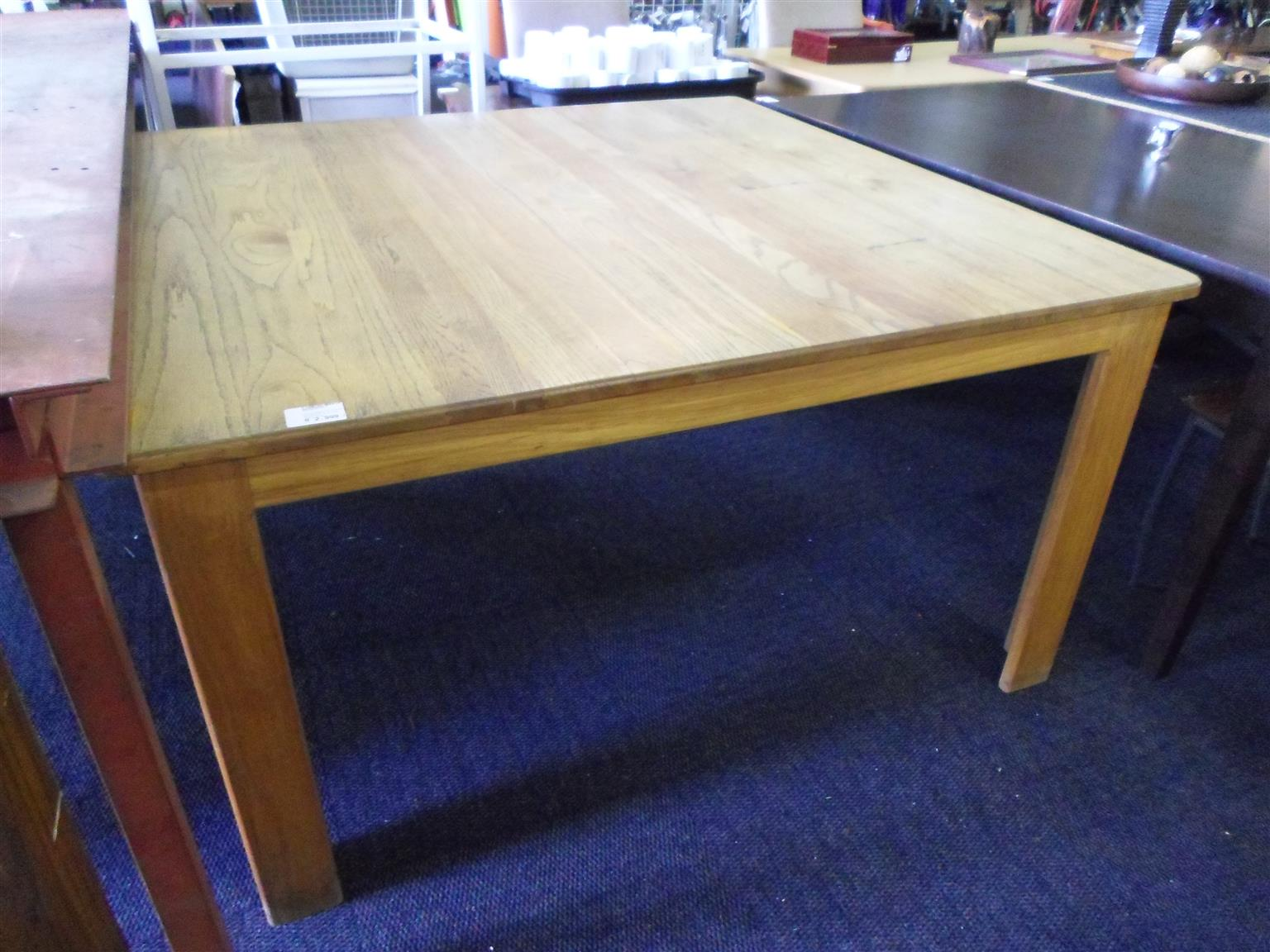 Wooden Square Dining Room Table