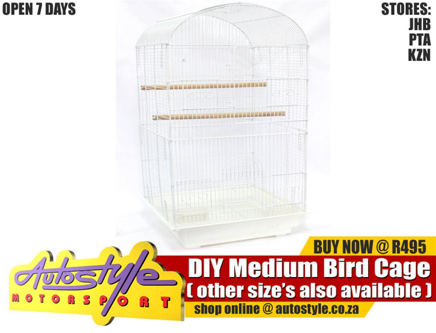 DIY Bird Cage Small R250  DIY Bird Cage Medium R495  DIY Bird Cage Large R695