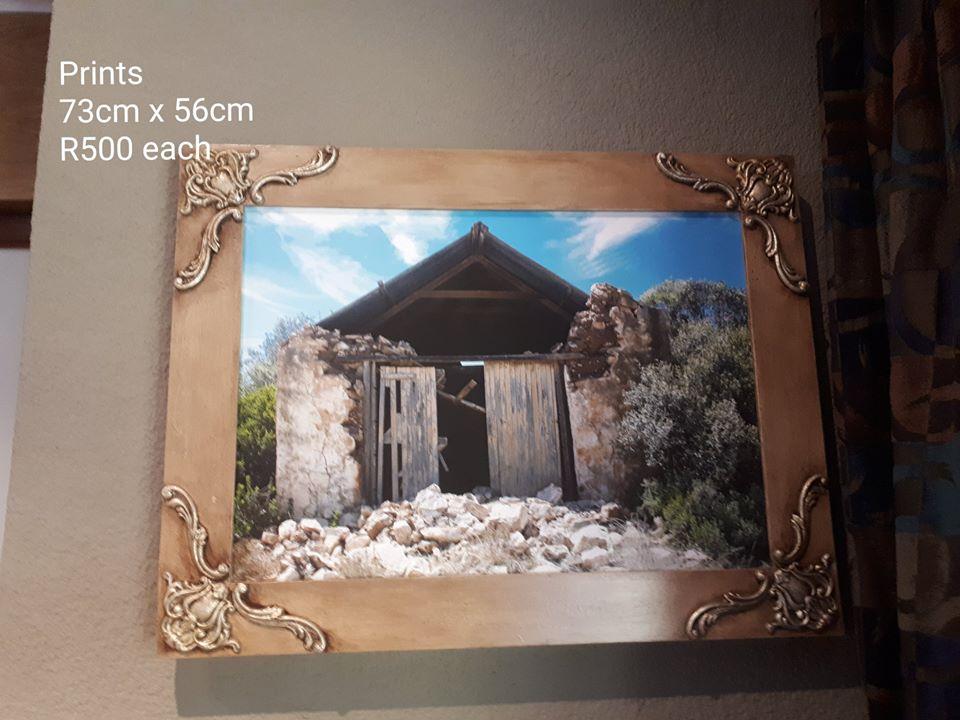 Framed barn ruin print for sale