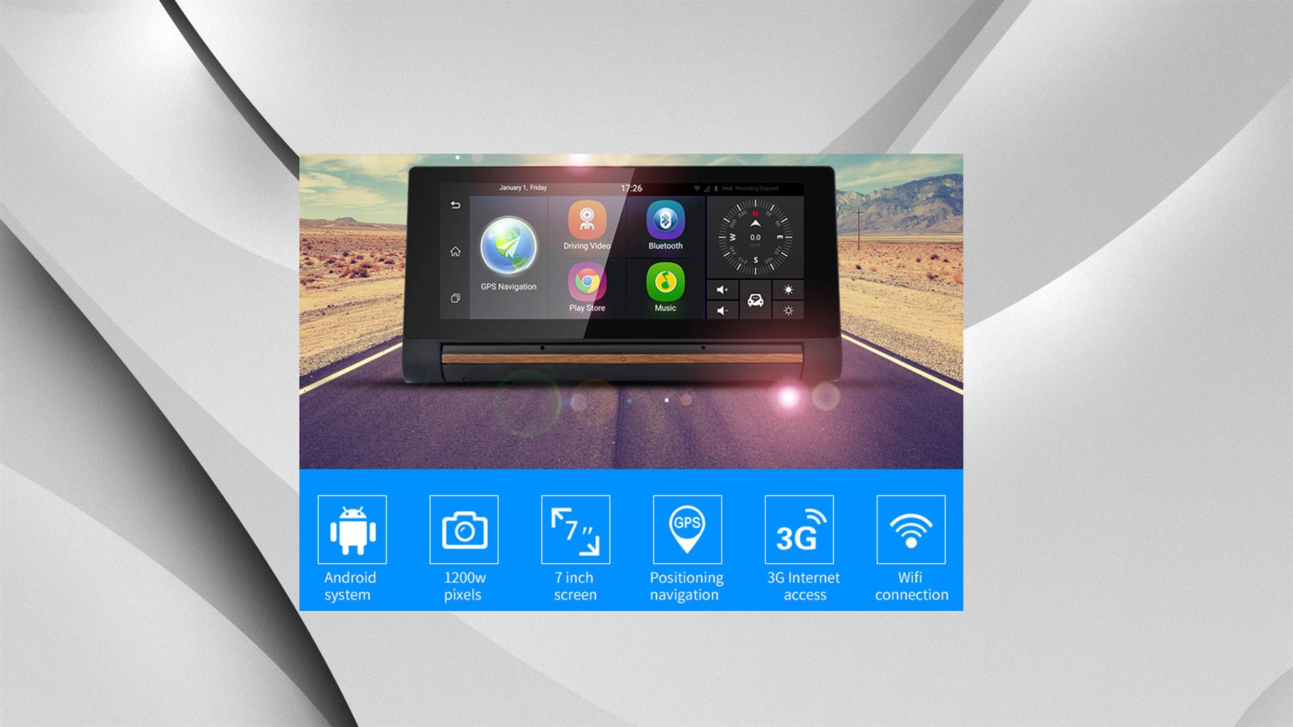 Needsbay.co.za : Quad-Core Car Dash Tablet PC with Car GPS Navigation