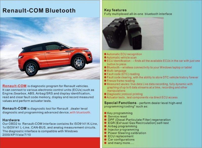 Renault-COM Bluetooth Diagnostic Tool