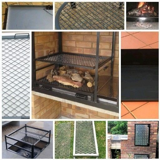 built in braai grids and ash pans
