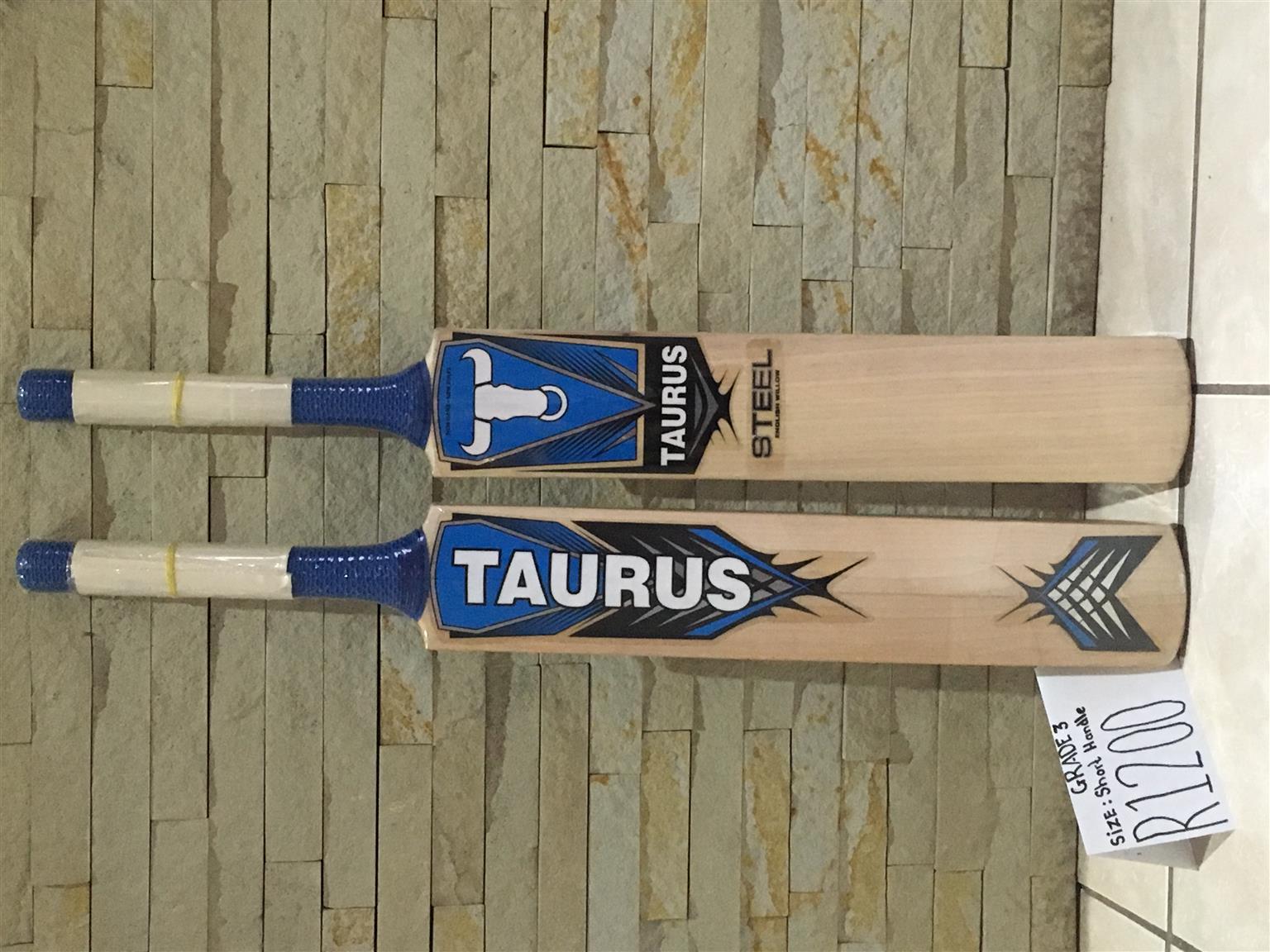 New Taurus Steel cricket bats