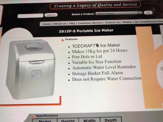 Bauer ice Maker