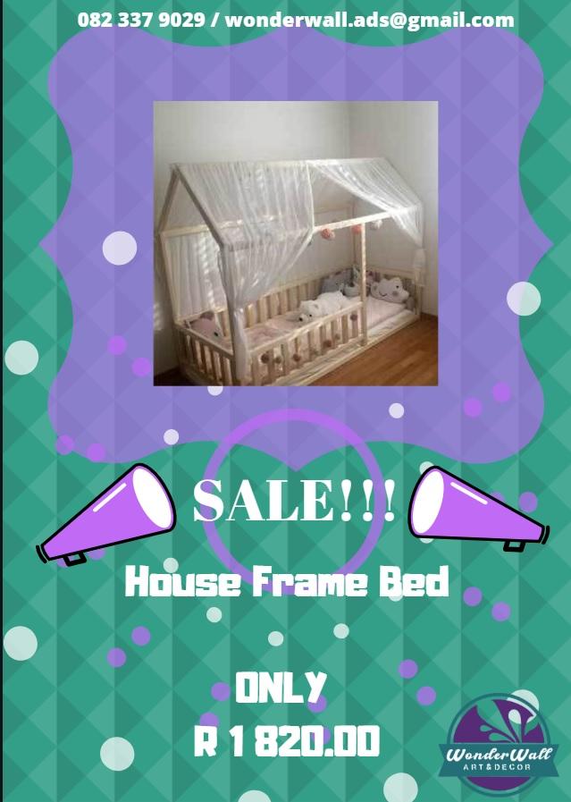 Kiddies House Frame Bed