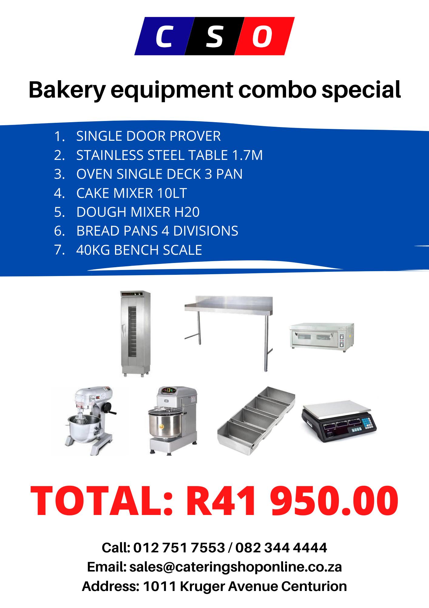 Bakery equipment for sale