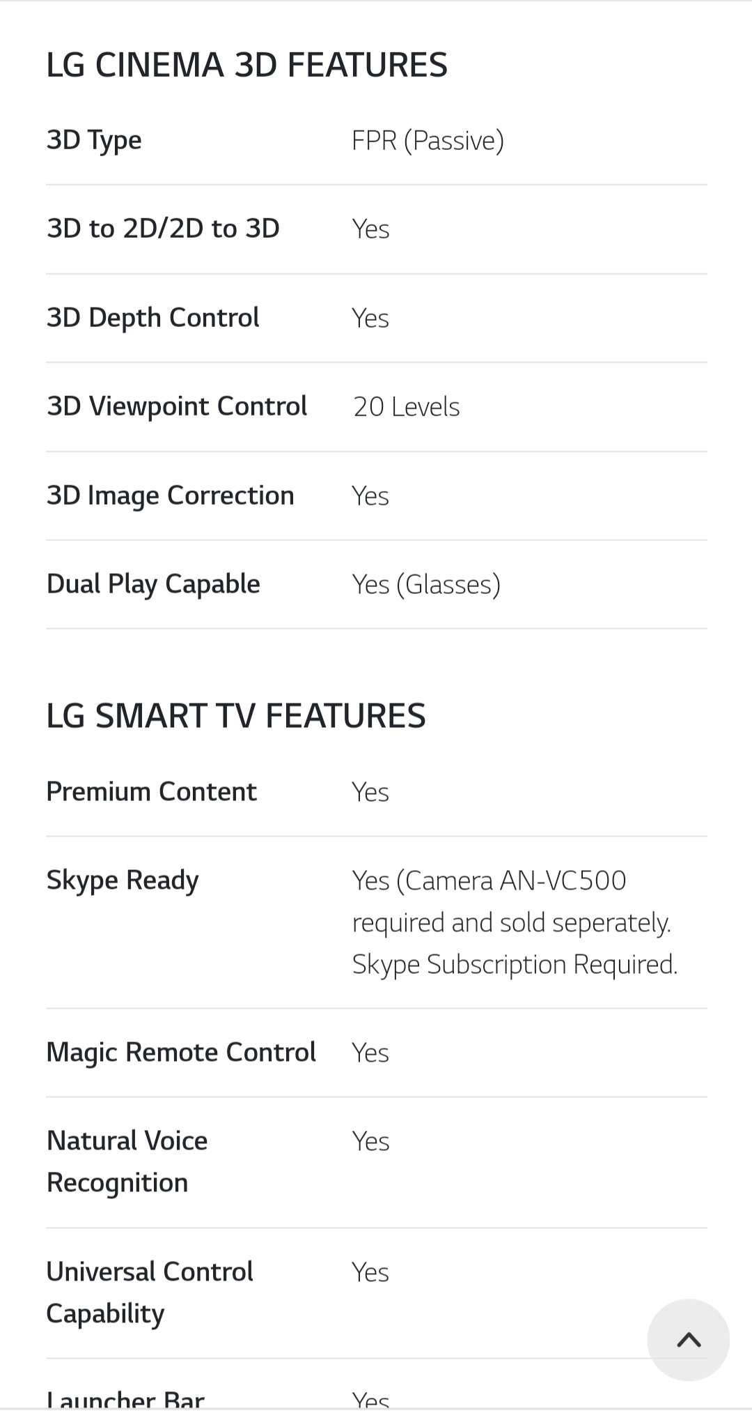 "LG 42"" Smart Web Os 3d tv"