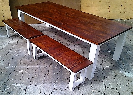 Patio Table Chunky Cottage Series 2500 Combo Two Tone