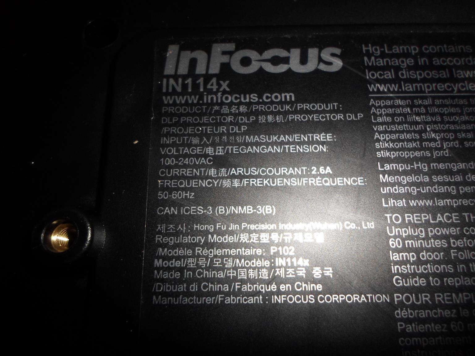 Infocus IN114x Projector - C033054922-1