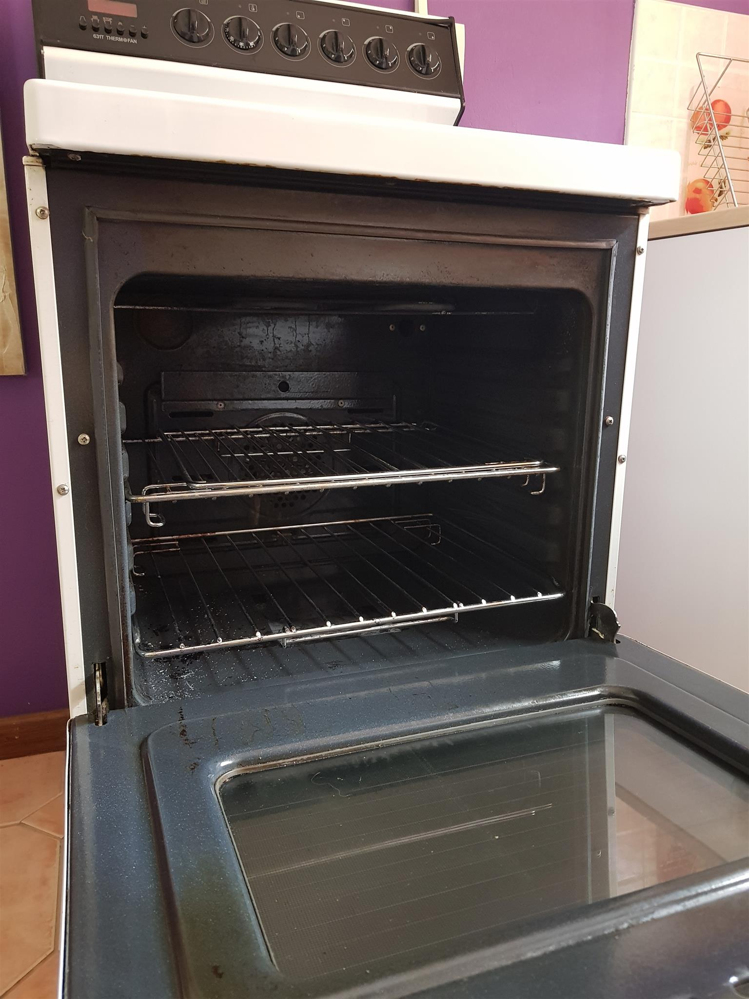 Under counter oven and hob.