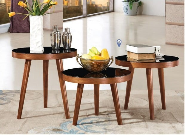 Coco Round Side Table Set of 3