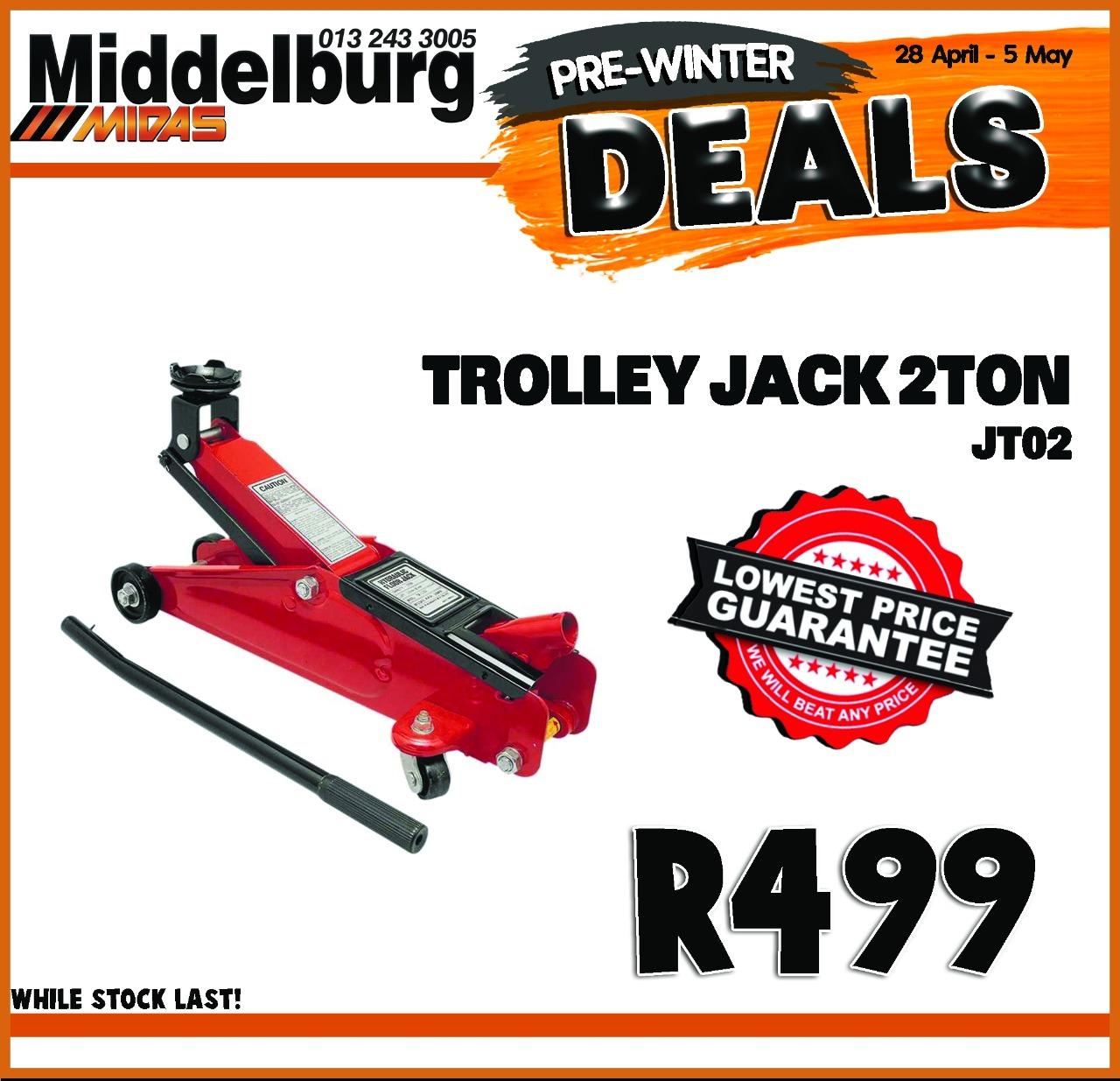 Trolley Jack 2 Ton ONLY at Middelburg Midas -Sparesworld!