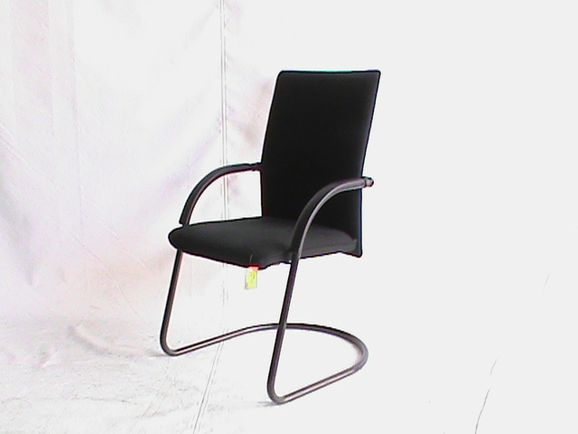 Black fabric visitor chair