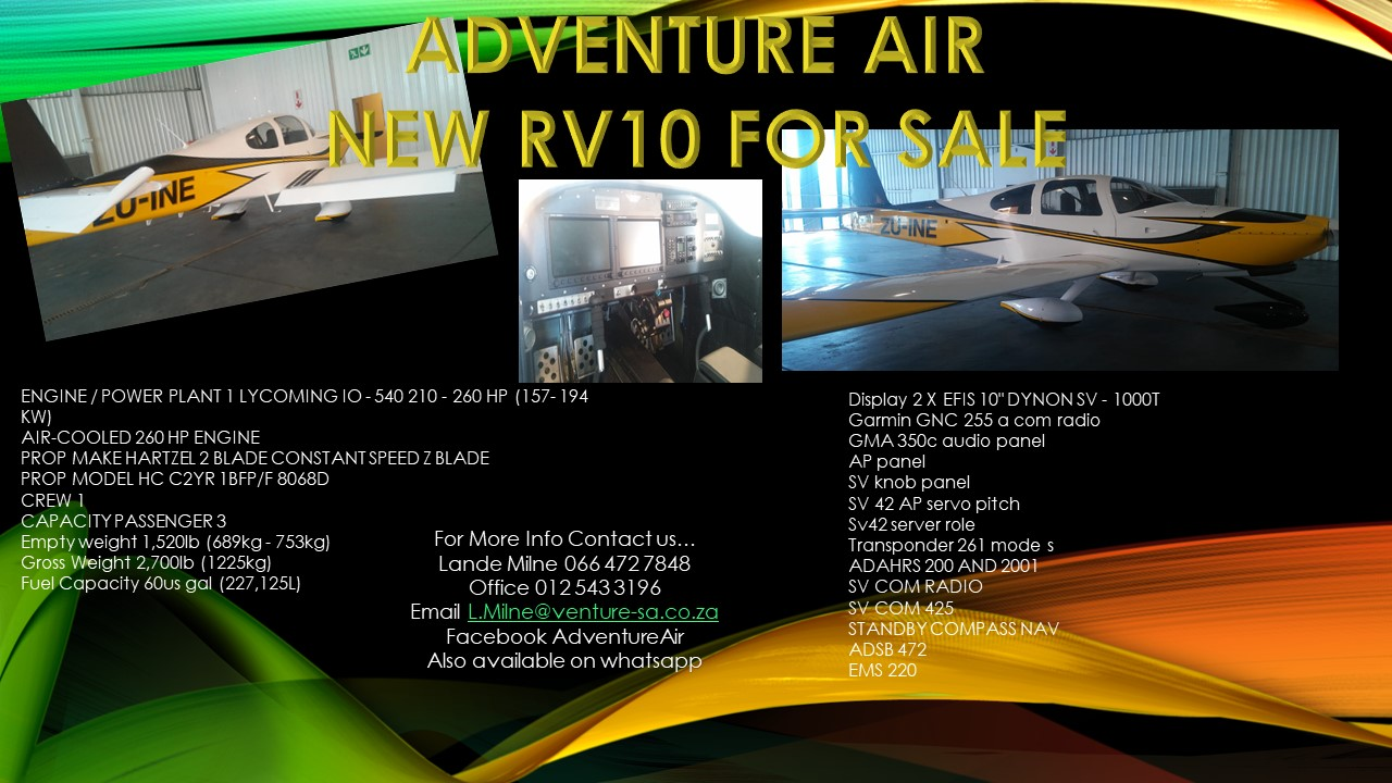 RV 10 FOR SALE