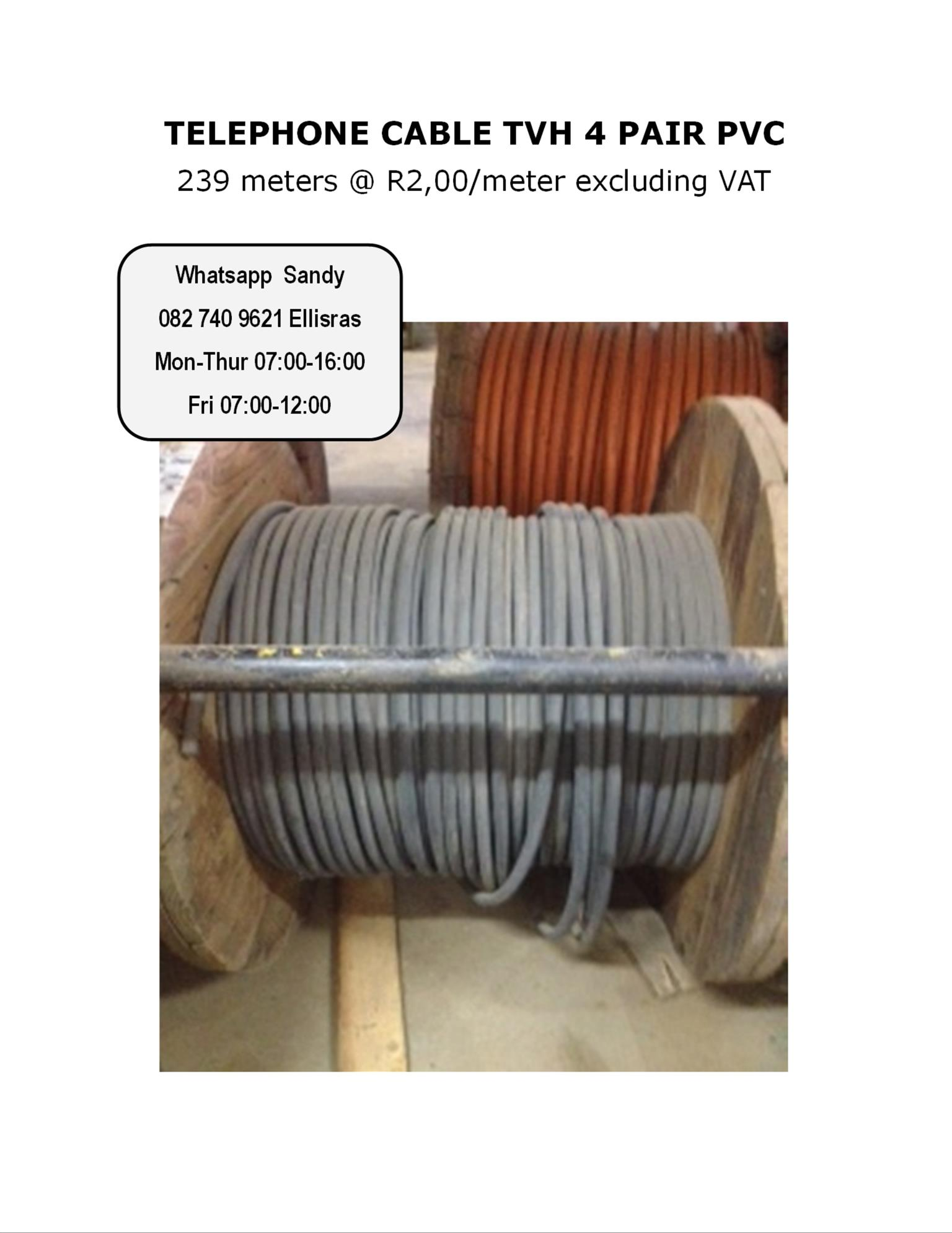 TELEPHONE CABLE TVH 4 PAIR PVC