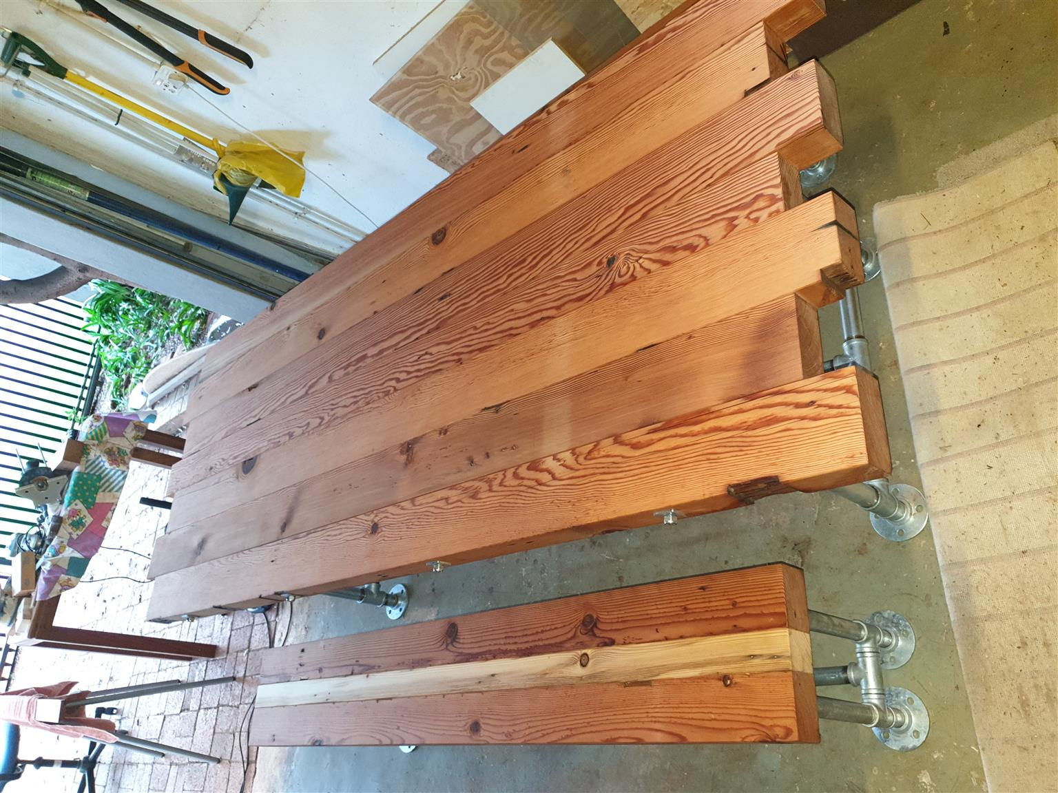 Junk Mail & Stunning solid wood dining table and benches | Junk Mail