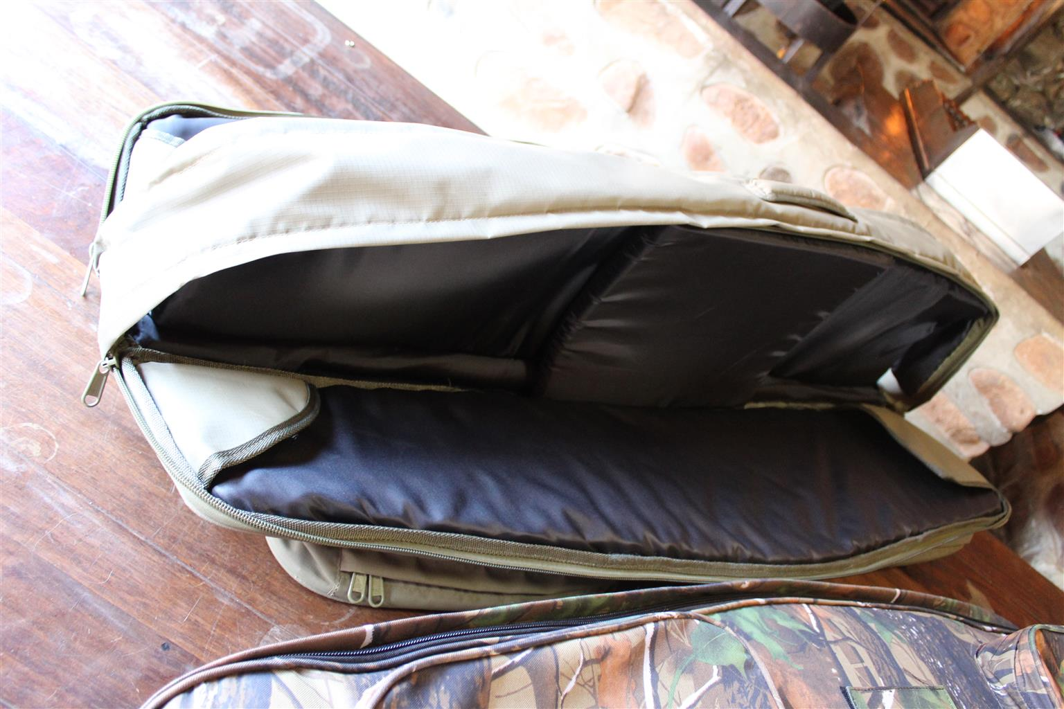 Double Rifle Bag 2 x PKT Zip Top