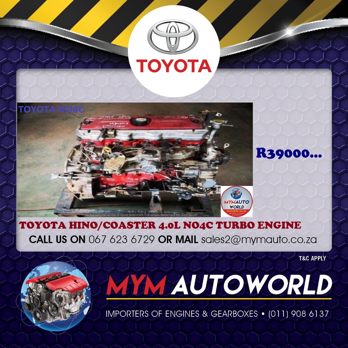 TOYOTA HINO/COASTER 4.0 NO4C TURBO ENGINE