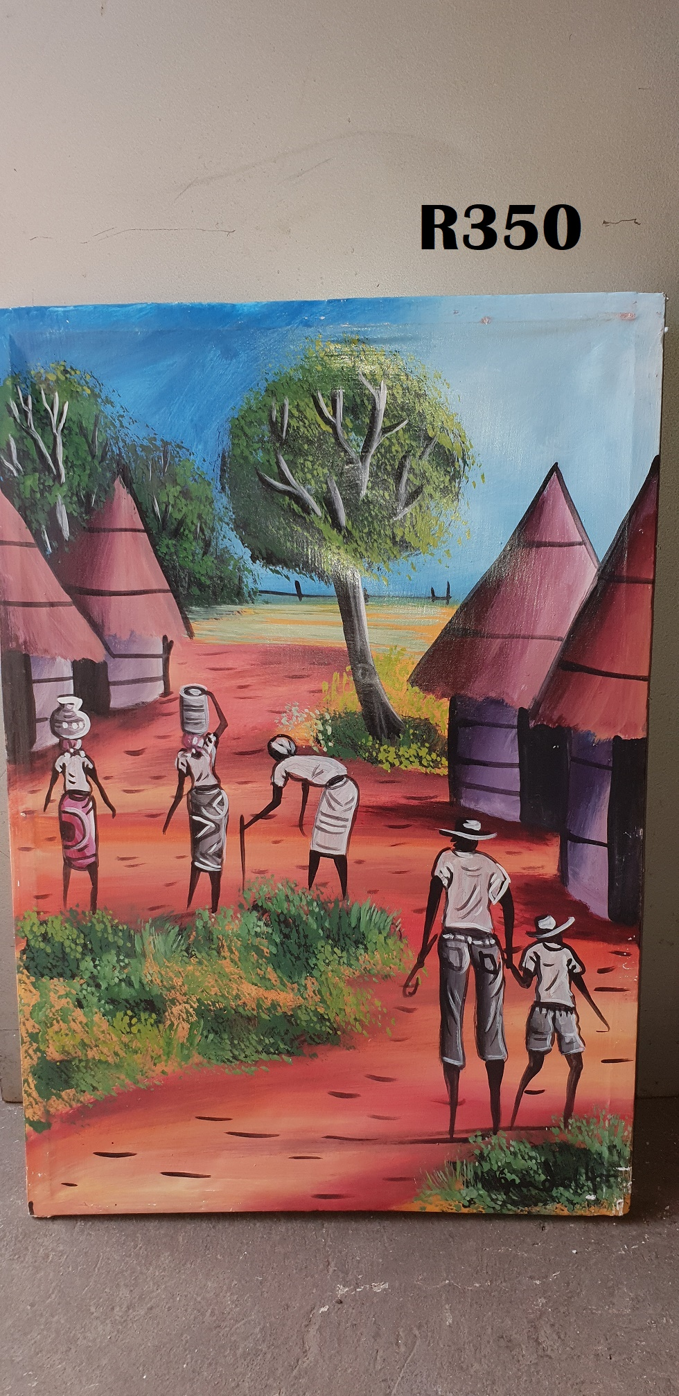 Man, Son and Three Ladies Painting (460x660)