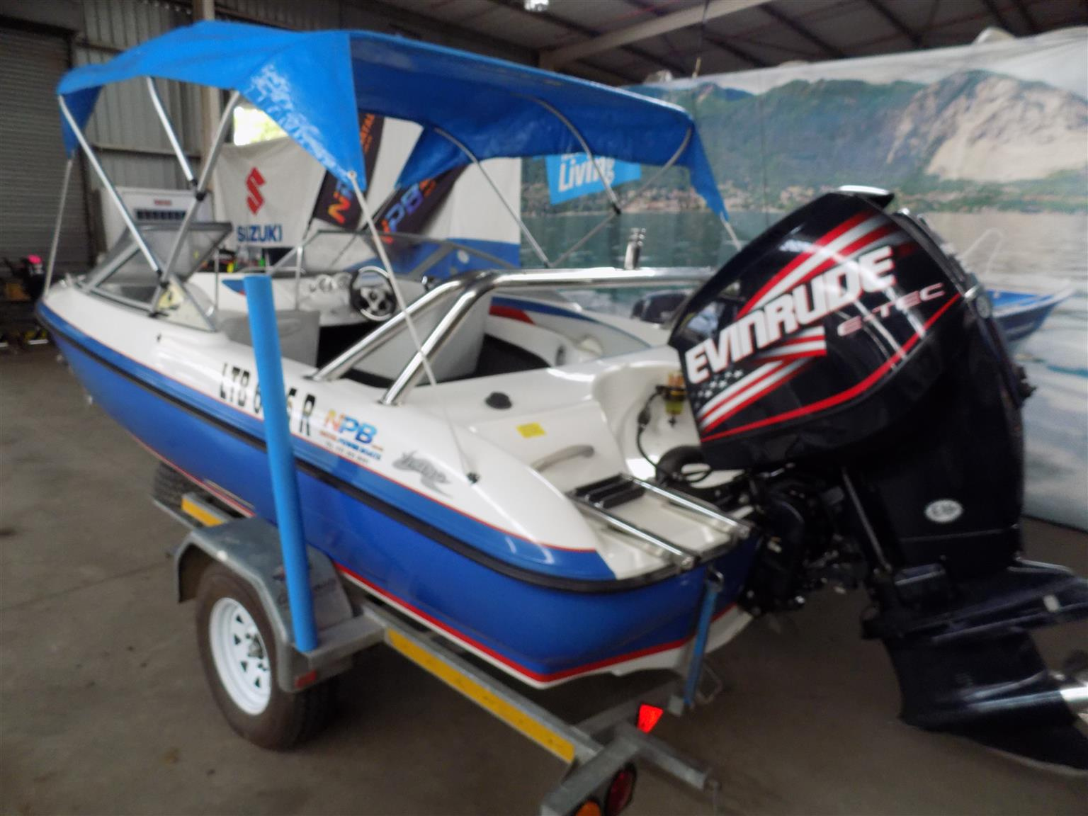 viking velocity 180 on trailer 200 hp evinrude etec ho