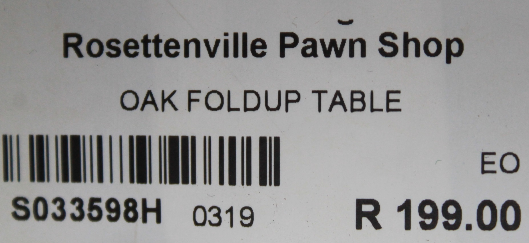 S033598H Oak foldup table #Rosettenvillepawnshop
